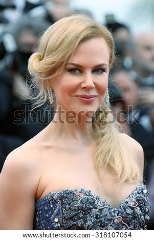 Actress Nicole Kidman attends the Opening ceremony and the 'Grace of Monaco' Premiere during the 67th Annual Cannes Film Festival on May 14, 2014 in Cannes, France. - stock photo