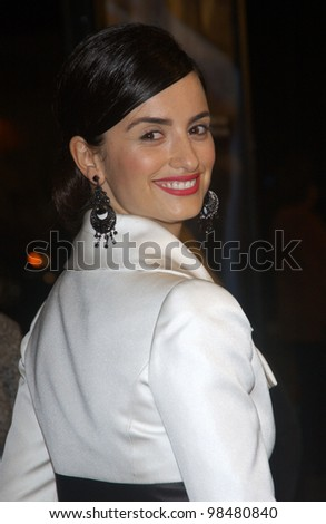 Actress PENELOPE CRUZ at the world premiere, in Los Angeles, of her new movie Gothika. November 13, 2003  Paul Smith / Featureflash - stock photo