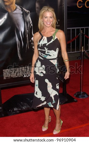 Actress POPPY MONTGOMERY at the world premiere, in Los Angeles, of Collateral. August 2, 2004