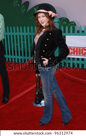 Actress RENEE OLSTEAD at the world premiere of Walt Disney's Chicken Little at the El Capitan Theatre, Hollywood. October 30, 2005 Los Angeles, CA  2005 Paul Smith / Featureflash - stock photo