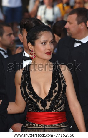 Actress SALMA HAYEK at the Awards Ceremony & screening of Chromophobia at the 58th Annual Film Festival de Cannes. May 21, 2005 Cannes, France.  2005 Paul Smith / Featureflash - stock photo