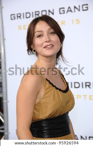 "Actress SASHA ALEXANDER at the Los Angeles premiere of ""Gridiron Gang"" at the Grauman's Chinese Theatre, Hollywood. September 5, 2006  Los Angeles, CA  2006 Paul Smith / Featureflash"