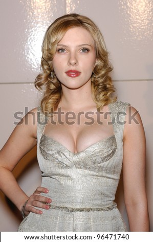 Actress SCARLETT JOHANSSON at the Los Angeles premiere of her new movie Match Point. December 8, 2005  Los Angeles, CA.  2005 Paul Smith / Featureflash - stock photo