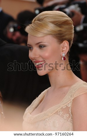 Actress SCARLETT JOHANSSON at the screening of Woody Allen's Match Point at the 58th Annual Film Festival de Cannes. May 12, 2005 Cannes, France.  2005 Paul Smith / Featureflash - stock photo