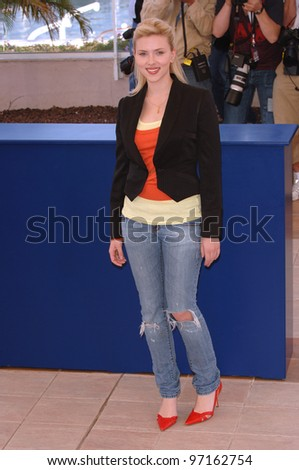 Actress SCARLETT JOHANSSON at the 58th Annual Film Festival de Cannes where she is promoting her new movie Match Point. May 12, 2005 Cannes, France.  2005 Paul Smith / Featureflash - stock photo