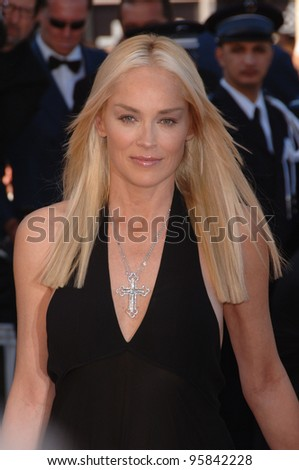 "Actress SHARON STONE at the gala screening for ""Marie Antoinette"" at the 59th Annual International Film Festival de Cannes. May 24, 2006  Cannes, France.  2006 Paul Smith / Featureflash - stock photo"