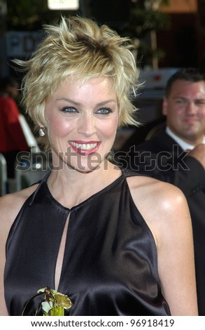 Actress SHARON STONE at the 2004 Primetime Creative Arts Emmy Awards at the Shrine Auditorium, Los Angeles. September 12, 2004