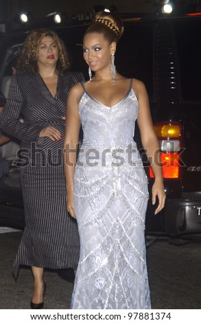 Actress/singer BEYONCE KNOWLES at the Hollywood premiere of her new movie The Fighting Temptations. Sept 17, 2003  Paul Smith / Featureflash - stock photo