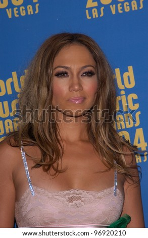 Actress/singer JENNIFER LOPEZ at the 16th Annual World Music Awards at the Thomas and Mack Centre, Las Vegas. September15, 2004