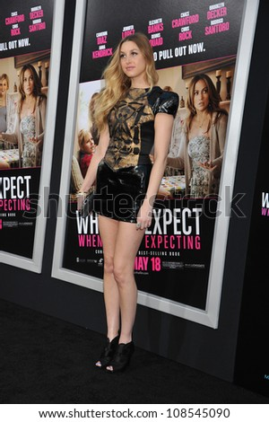 Actress Whitney Port arrives at the premiere of 'What To Expect When You're Expecting' held at Grauman's Chinese Theatre in Hollywood. - stock photo