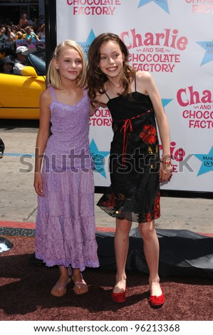 Actresses ANNASOPHIA ROBB (left) & JULIA WINTER at the world premiere, in Hollywood, of their new movie Charlie and the Chocolate Factory. July 10, 2005 Los Angeles, CA  2005 Paul Smith / Featureflash