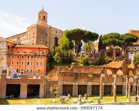 Actual view of the Roman Forum,