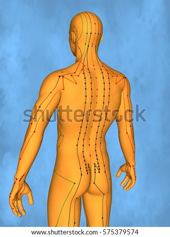 Acupuncture model M-POSE Mylie-01-12, 3D Model