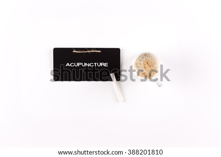ACUPUNCTURE on blackboard - stock photo