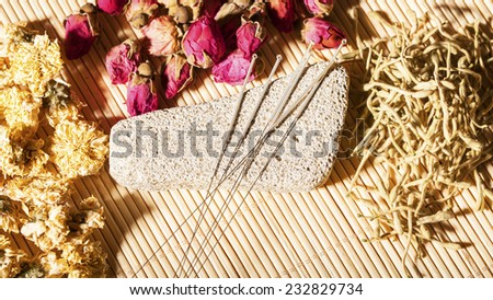 acupuncture. traditional chinese medicine - stock photo