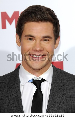 Adam DeVine at the Los Angeles premiere of 'Why Him?' held at the Regency Bruin Theater in Westwood, USA on December 17, 2016.