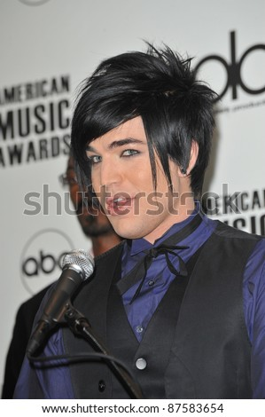 Adam Lambert at the nominations announcement for the 2009 American Music Awards at the Beverly Hills Hotel. October 13, 2009  Los Angeles, CA Picture: Paul Smith / Featureflash