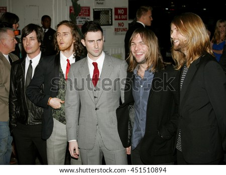 Adam Levine and Maroon 5 at the Global Green USA Pre-Oscar Celebration to Benefit Global Warming held at the Avalon in Hollywood, USA on February 21, 2007. - stock photo