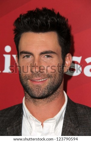 "Adam Levine at NBC Universal's ""2013 Winter TCA Tour,"" Langham Hotel, Pasadena, CA 01-06-13 - stock photo"