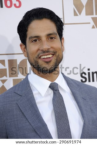 Adam Rodriguez at the World premiere of 'Magic Mike XXL' held at the TCL Chinese Theatre in Hollywood, USA on June 25, 2015.  - stock photo