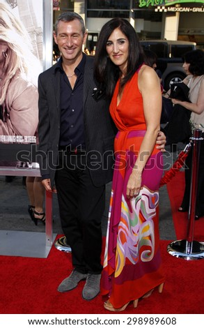 Adam Shankman and Jennifer Gibgot at the Los Angeles premiere of 'Going The Distance' held at the Grauman's Chinese Theater in Hollywood on August 23, 2010.  - stock photo