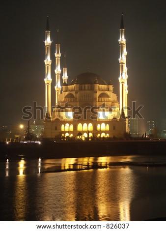 Adana Monsque at sunrise - stock photo