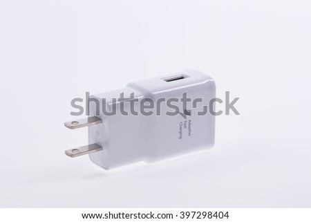 Adapter Charger on white background