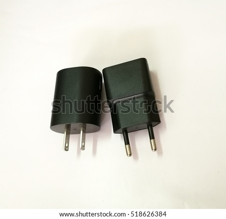 Adapter on white background