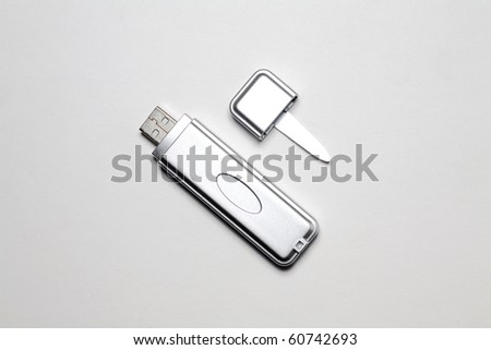 adapter to put in the pc compact flash cards - stock photo