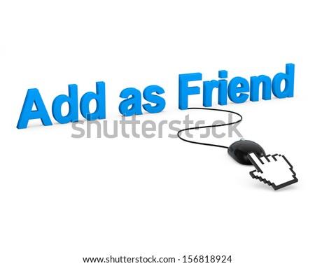 Add as Friend - stock photo