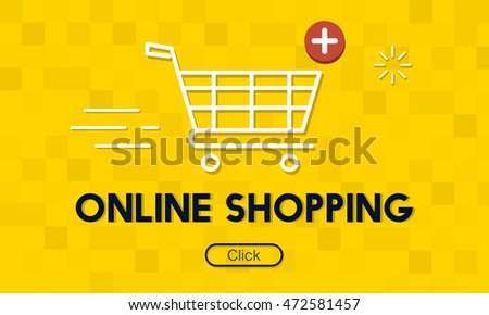 Add Cart Buy Now Online Commerce Graphic Concept