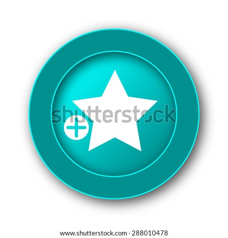 Add to favorites icon. Internet button on white background