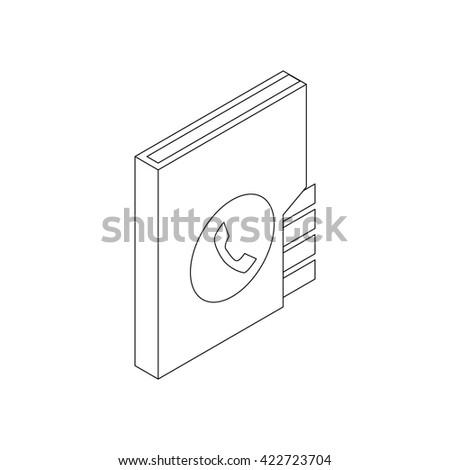 Address book icon, isometric 3d style - stock photo