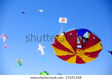 ADELAIDE - MARCH 29: The last day of the Adelaide International Kite Festival at Semaphore Beach on 29 March, 2009, Adelaide, Australia. - stock photo