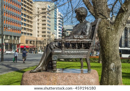 Adelaide South Australia  29 August 2014 , Public Statues and Art along the city's North Terrace