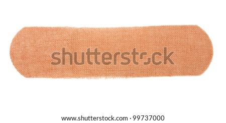 adhesive bandage isolated on white background - stock photo