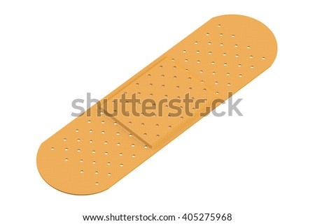 Adhesive plaster. 3D rendering isolated on white background