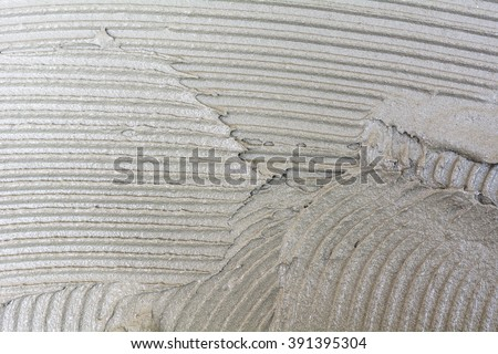 Adhesive plaster surface for tile work./ Cement glue - stock photo