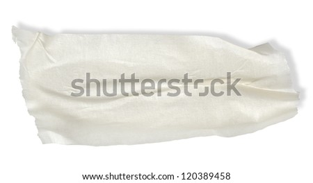 Adhesive tape isolated on a white background