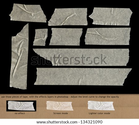 adhesive transparency tape / for graphisme and retouching - stock photo
