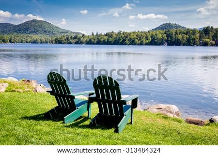 Beautiful Adirondack Chairs Lake Mirror Placid New To Inspiration Decorating