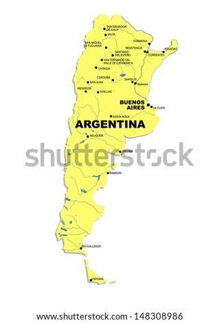 Administrative Map Argentina Stock Illustration 148308986 Shutterstock