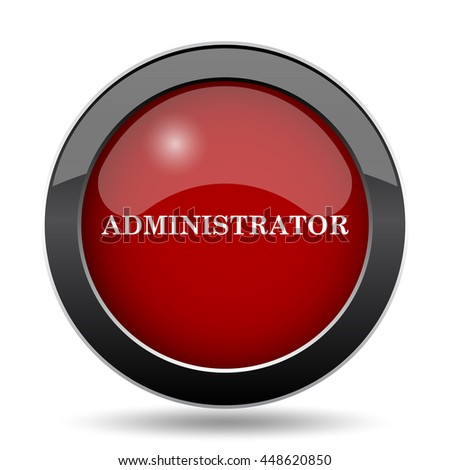Administrator icon. Internet button on white background.