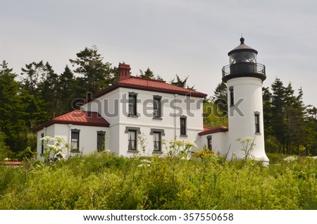 Admiralty Head Lighthouse in Fort Casey State Park on Whidbey Island, Washington State, USA