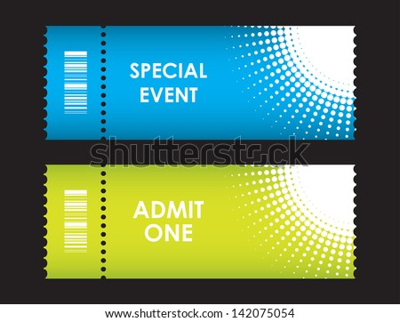 admit one cinema ticket - stock photo
