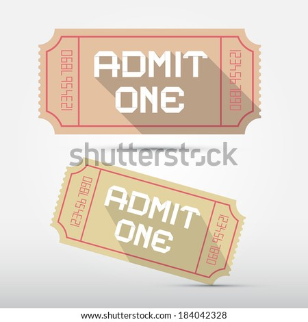 Admit One Ticket Illustration