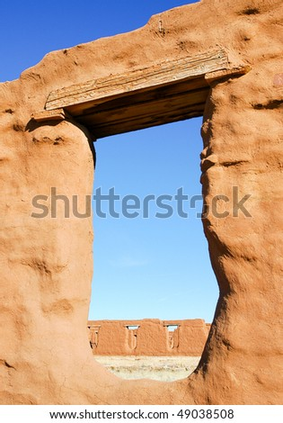 adobe fort walls and window