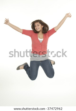 Adolescent Jumping for Joy