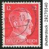 Adolf hitler postage stamp - stock photo