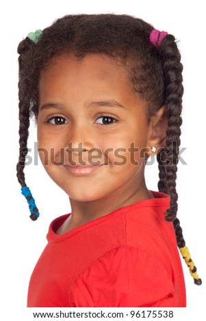 Adorable african baby isolated on a over white background - stock photo